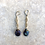 Thumbnail: Dark Blue Pearls and Filigree Earrings