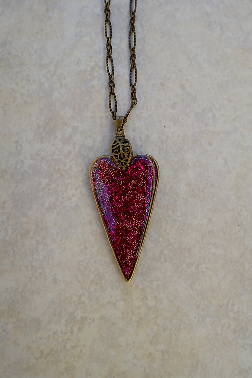 Hot Pink JudiKins Heart Necklace