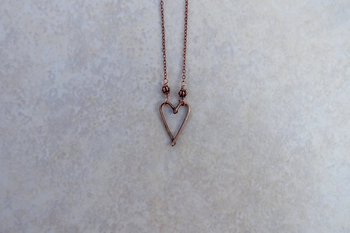 Bronze Heart Necklace, Small