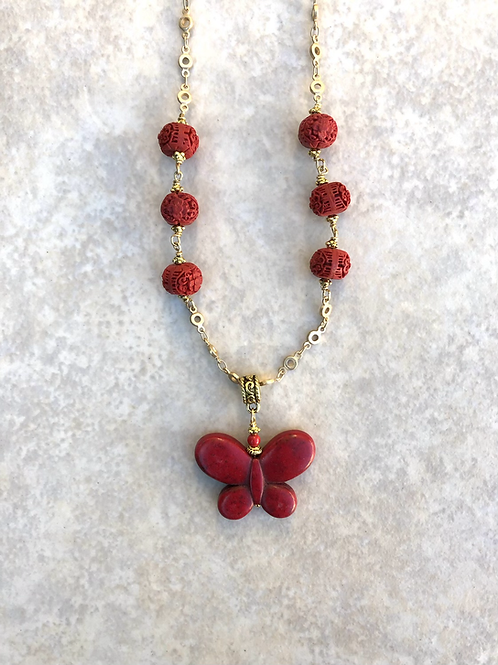Red Magnesite Butterfly