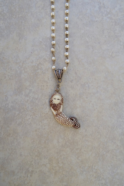 Petite Mermaid with Pearls