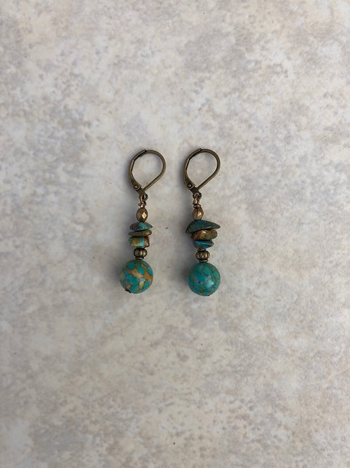 Mosaic Turquoise and Chip Turquoise