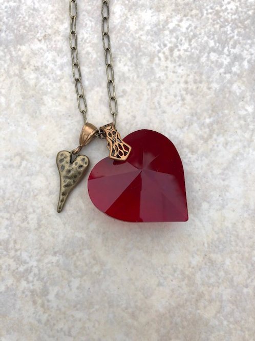 Hearts in Crystal and Bronze