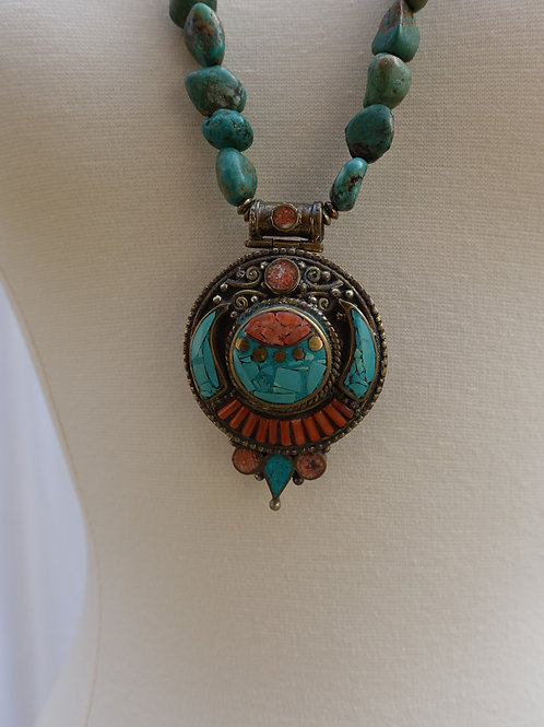 Nepalese and Turquoise Necklace