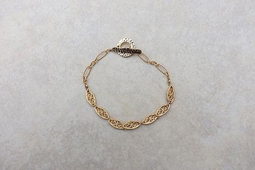 Filigree Gold Brass Bracelet/Extender