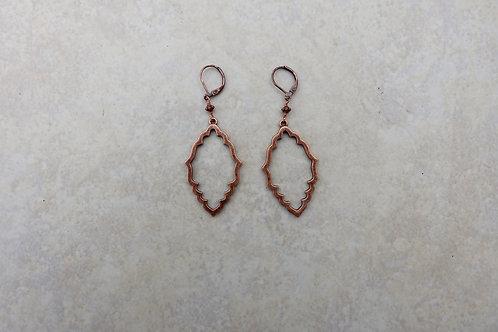 Scalloped Open Copper Earrings