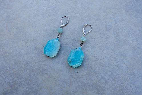 Faceted Amazonite Earrings