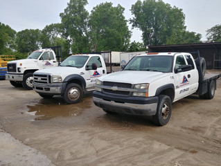 Some decal installs for a fleet of trucks.