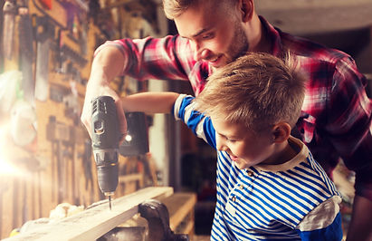 family, carpentry, woodwork and people c