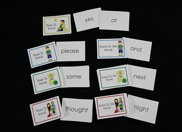 Target Word Flashcards: All Levels