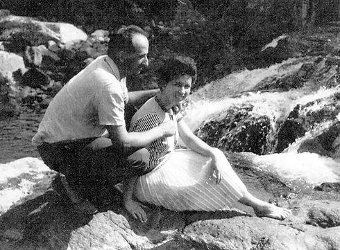 Mario e Alba Corral no Sitio de Glicerio