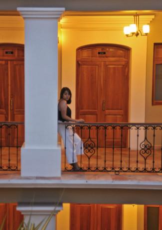 Vista del segundo piso de Hotel XTILU Oaxaca