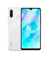 White huawei P30 lite front and back