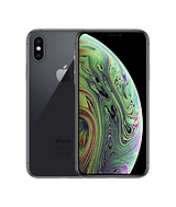 iPhone XS in deep grey front and back