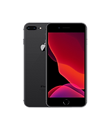 iPhone 8 Plus in Charcoal front and back