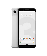 white google pixel 3 front and back