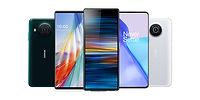 display of different phones: LG, Nokia, OnePlus,