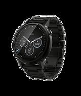 motorola moto smartwatch in black
