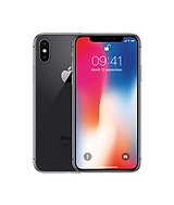iPhone X in charcoal front and back