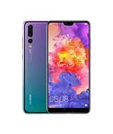 huawei p20 in turquoise and purple gradient