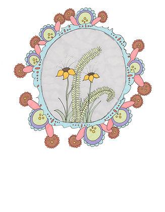 Fine Art Print Yellow Flowers