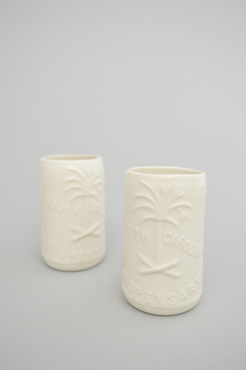Two South Carolina Dispensary tumblers