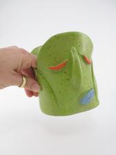 Green Face Planter