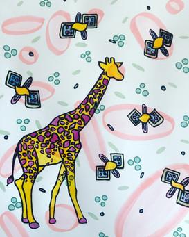 Embellished Giraffe Print