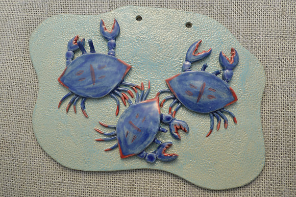 Three Blue Crabs