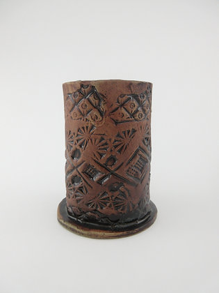 Brown Impressed Vessel