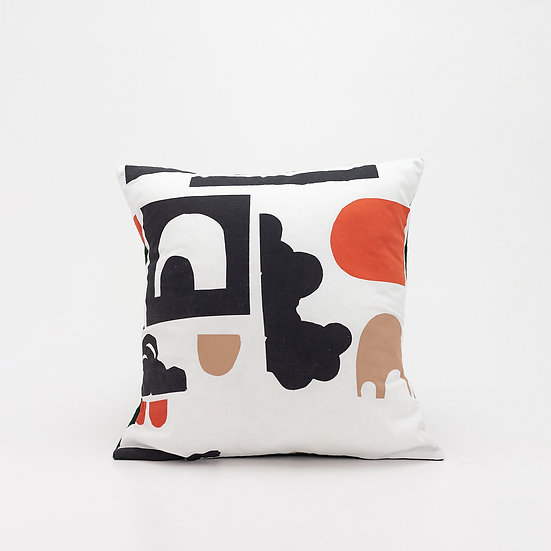 Shape Pillow  I  Green Back