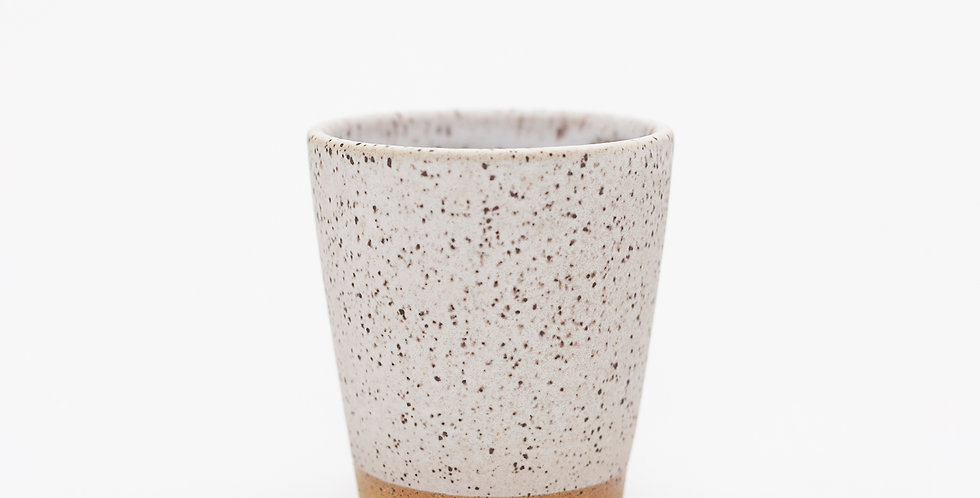 Matte White and Speckled Buff Tumbler