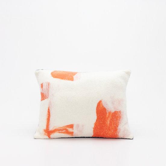 Rectangle Felt Pillow  I  Navy Back