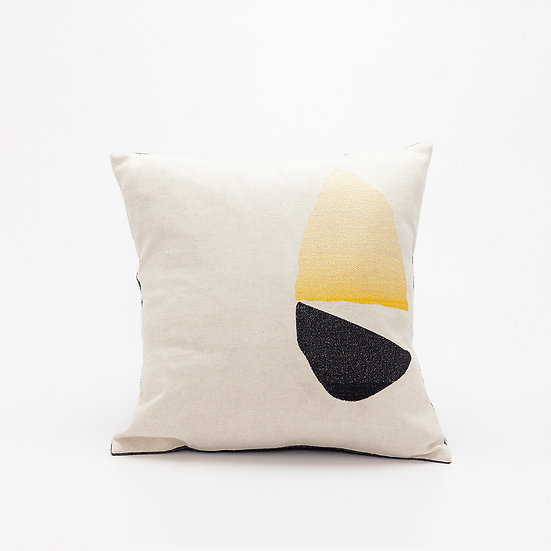 Home Pillow  I  Charcoal Back
