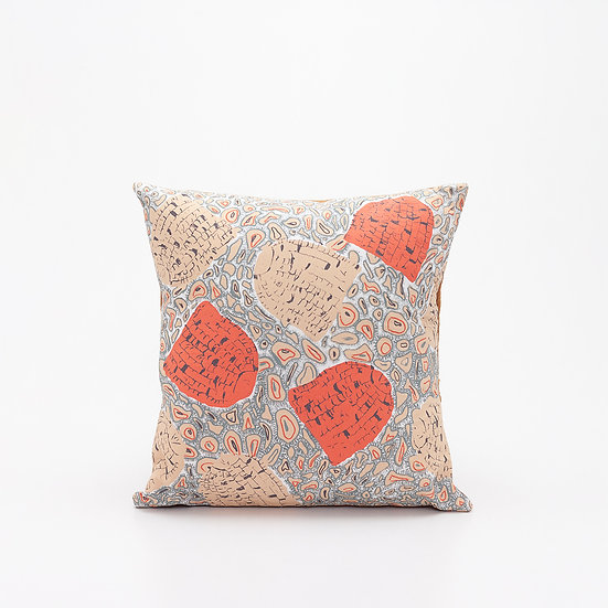 Collaborate Pillow I  Rust Back