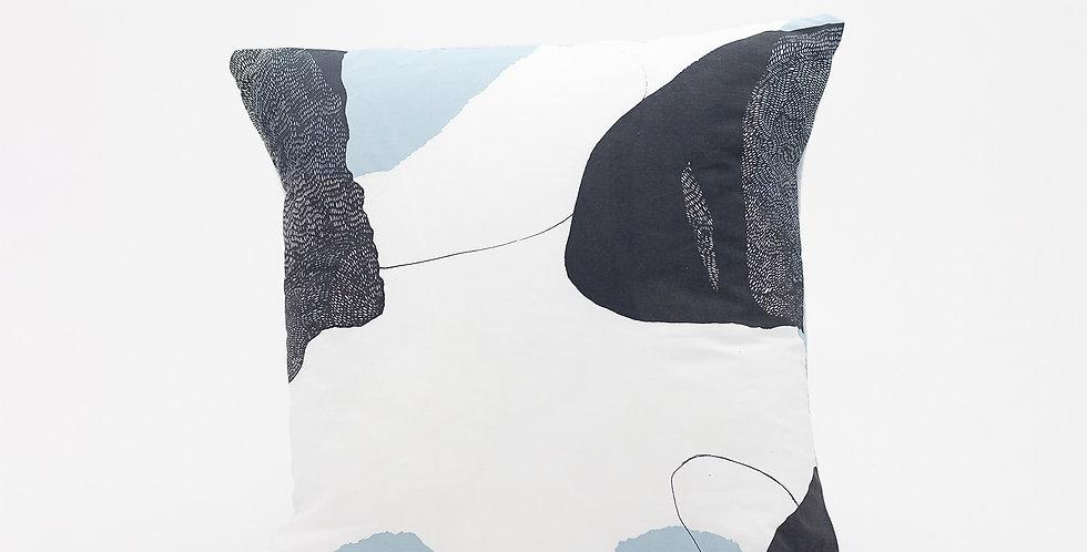 Trove Pillow  I  Pale Blue Back