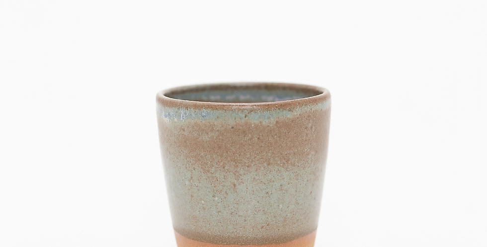 Pale Blue and Buff Tumbler