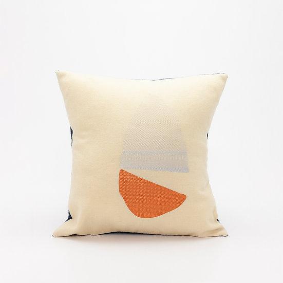 Home Pillow  I  Navy Felt Back