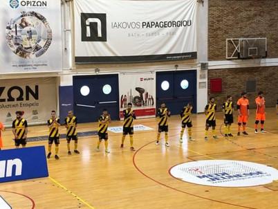 Futsal : Εύκολη νίκη της ΑΕΚ επί του Ηνίοχου με 7-1 (video)