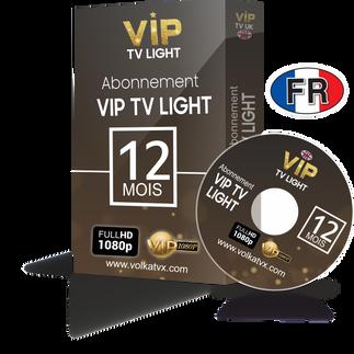 Vip tv fr light / 12 mois abonnement iptv Full HD / 4K