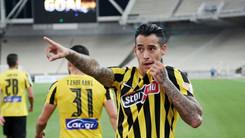 """Δύσκολη νίκη η ΑΕΚ (1-0) απέναντι στη Λαμία με σουτ """"οβίδα"""" του Αραούχο!"""