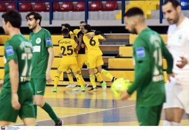 Futsal: Η ΑΕΚ συνέτριψε τον Παναθηναϊκό (8-0)  και φουλ για το Πρωτάθλημα! (video)