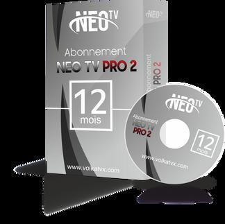 Neo tv pro 2 / 123 mois abonnement iptv Full HD / 4K