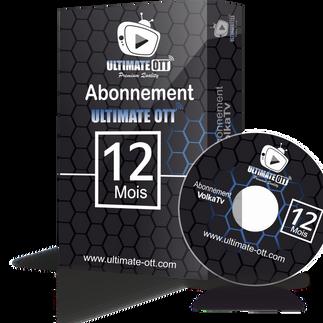 Ultimate OTT/ 12 mois abonnement iptv Full HD / 4K