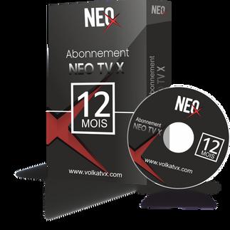 Neo tv X / 12 mois abonnement iptv Full HD / 4K