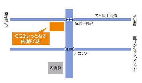 内灘FC店地図