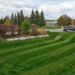 Lawn cut commercial property