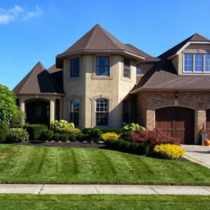 Estate property lawn mowed