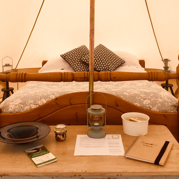 A Proper Kingsized Bed With Crisp Linens