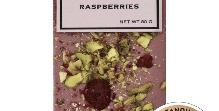 Ruby Chocolate, Pistachios & Raspberries